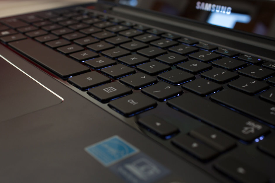 The ATIV Book 5 has a spacious and comfortable keyboard.