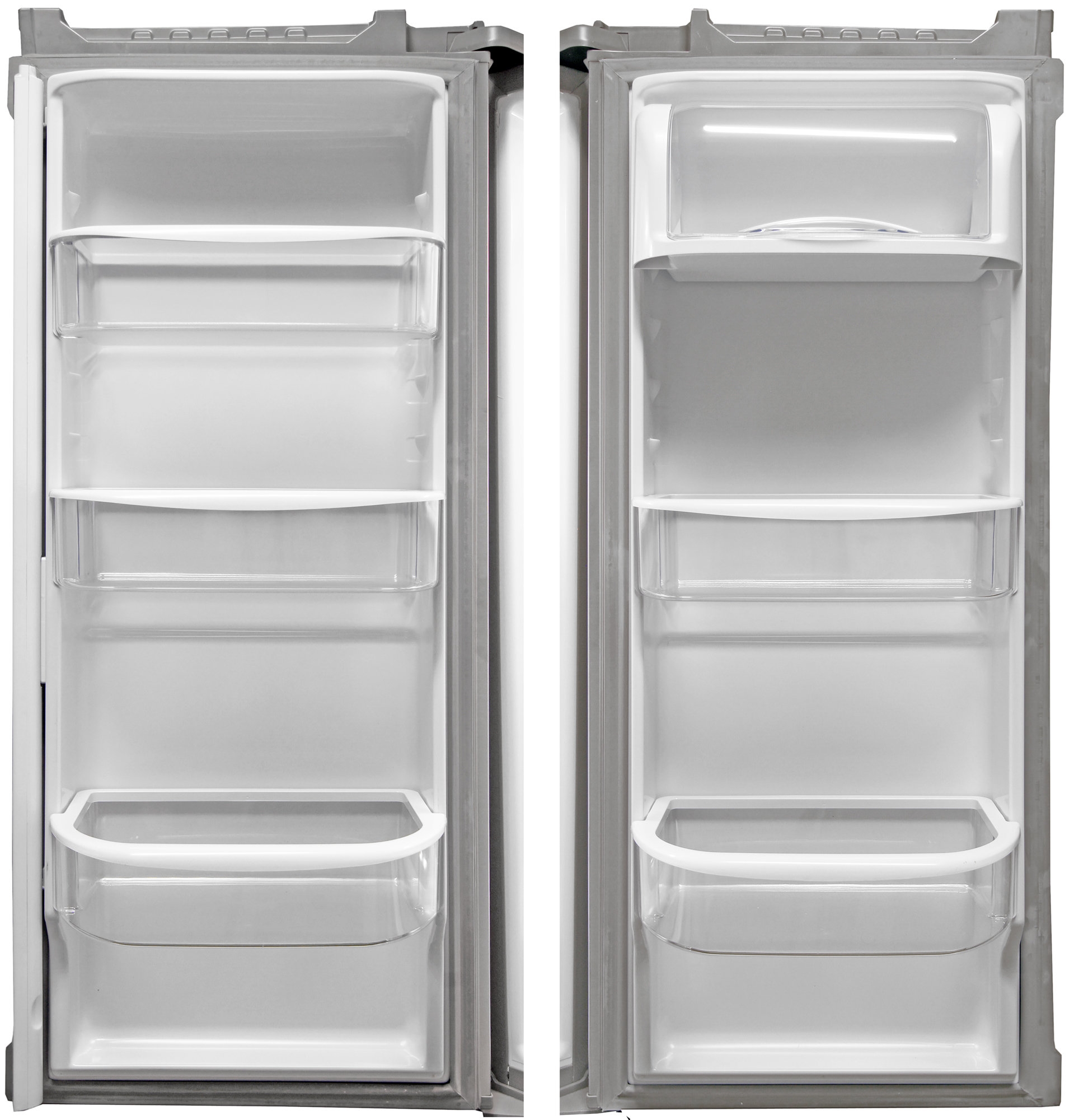 Of the Kenmore 72013's five adjustable door buckets, only the bottom two are deep enough for gallon jugs.
