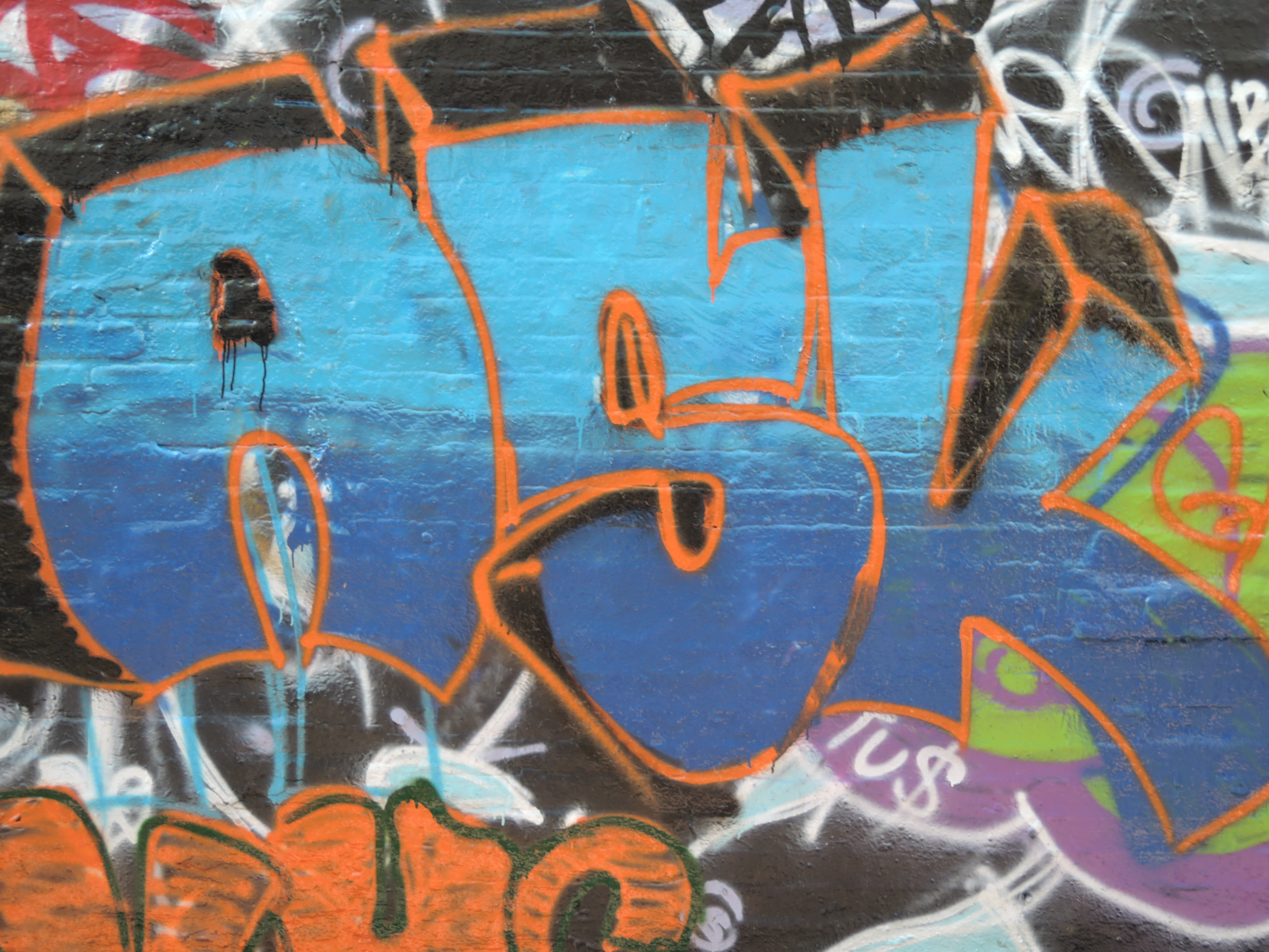 A sample photo of graffiti taken by the Nikon Coolpix P340.