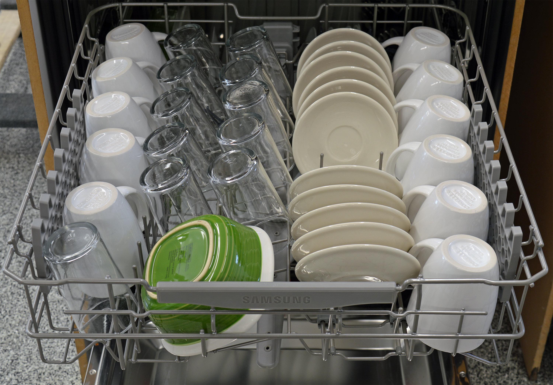Samsung dw80j7550us dishwasher review dishwashers - Kitchenaid dishwasher not cleaning top rack ...