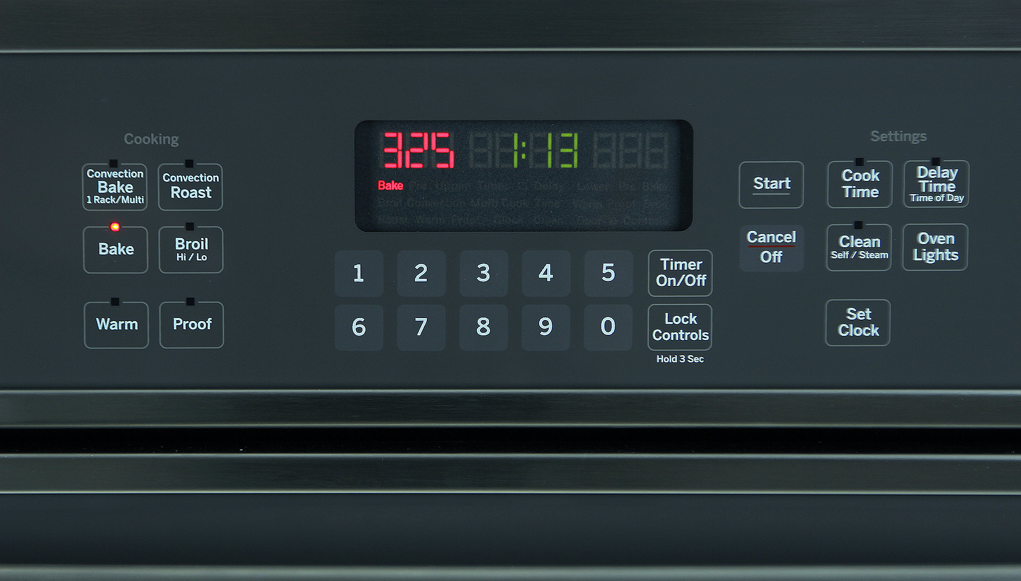 The Glass Touch controls are a welcome addition to the oven.