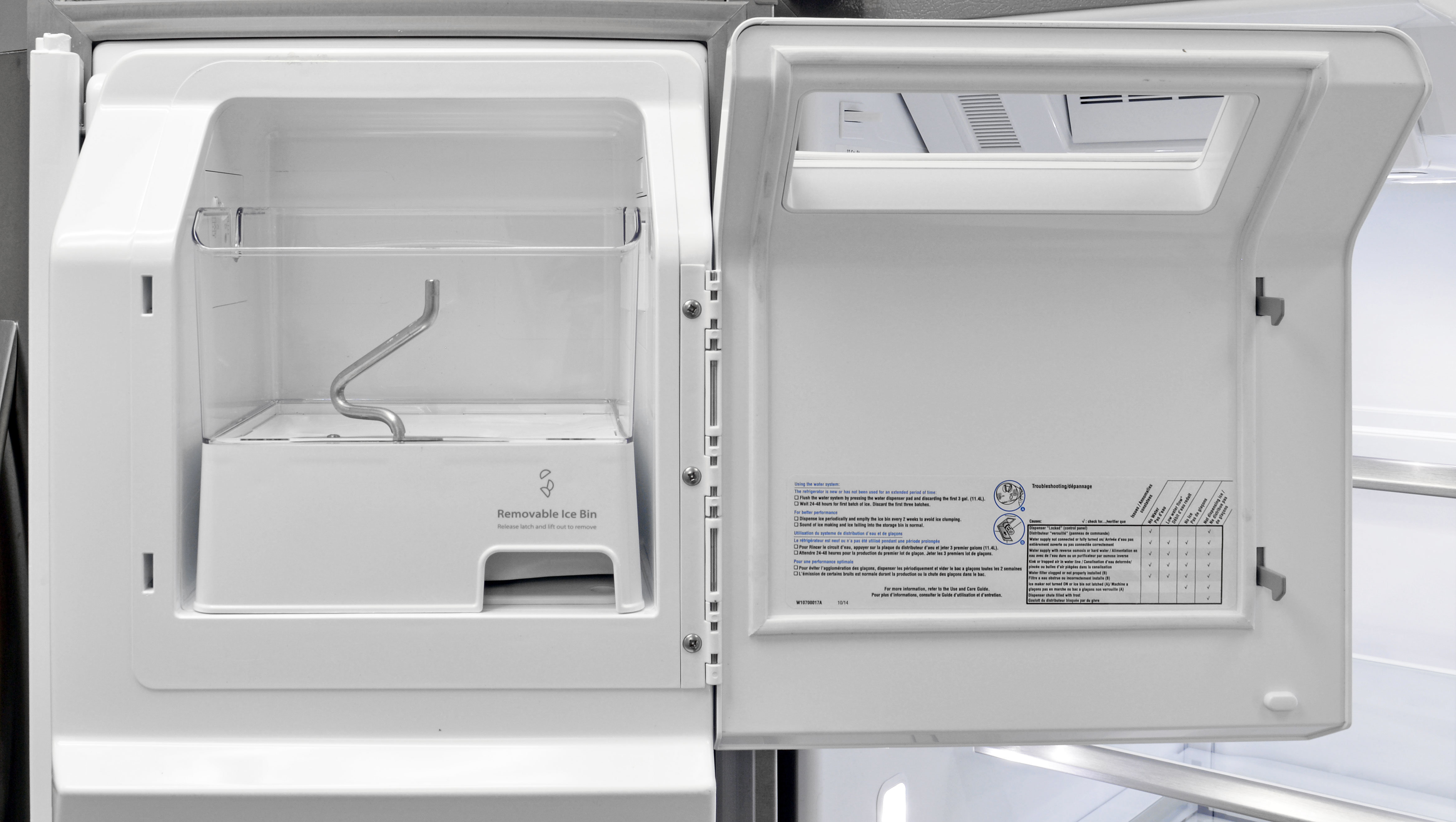 Whirlpool white ice appliances best buy - The Whirlpool Wrf757sdem S Roomy Door Mounted Ice Maker Holds Plenty Of Cubes And Is