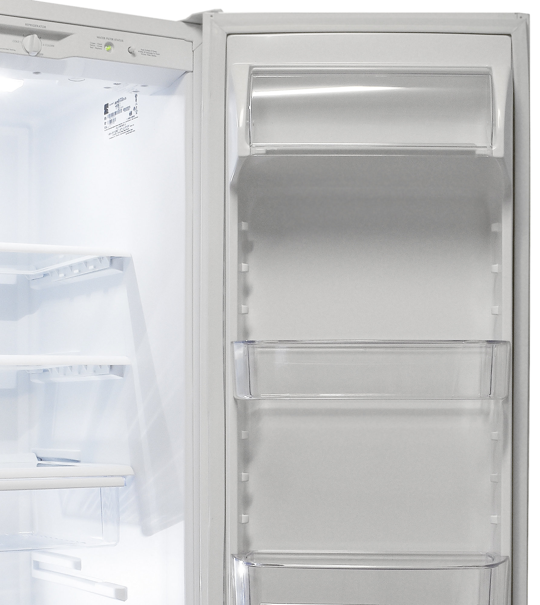 While the dairy bin is fixed, almost all of the Kenmore 51122's other fridge door shelves are adjustable.