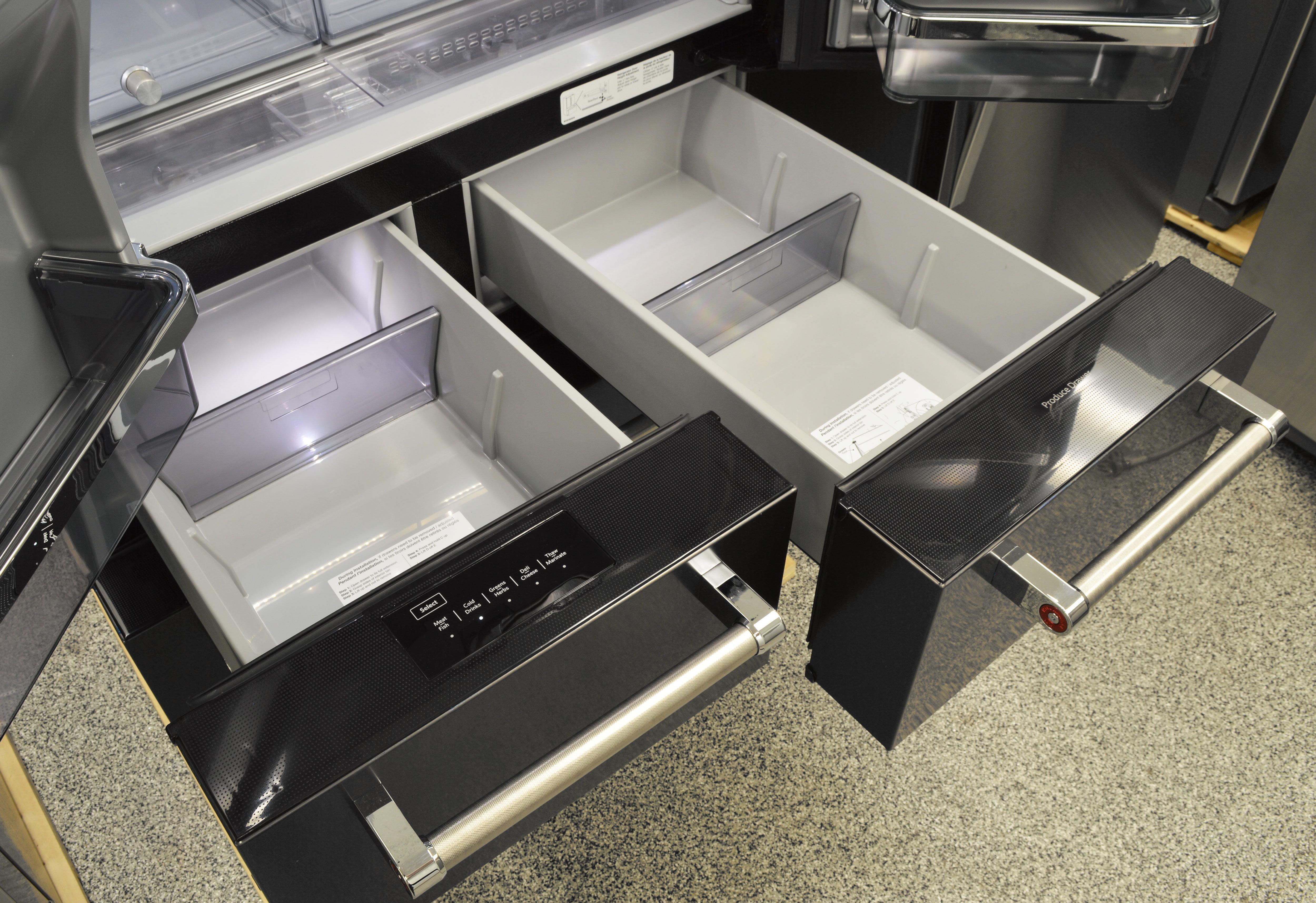 KitchenAid KRMF706EBS Refrigerator Review - Reviewed.com Refrigerators