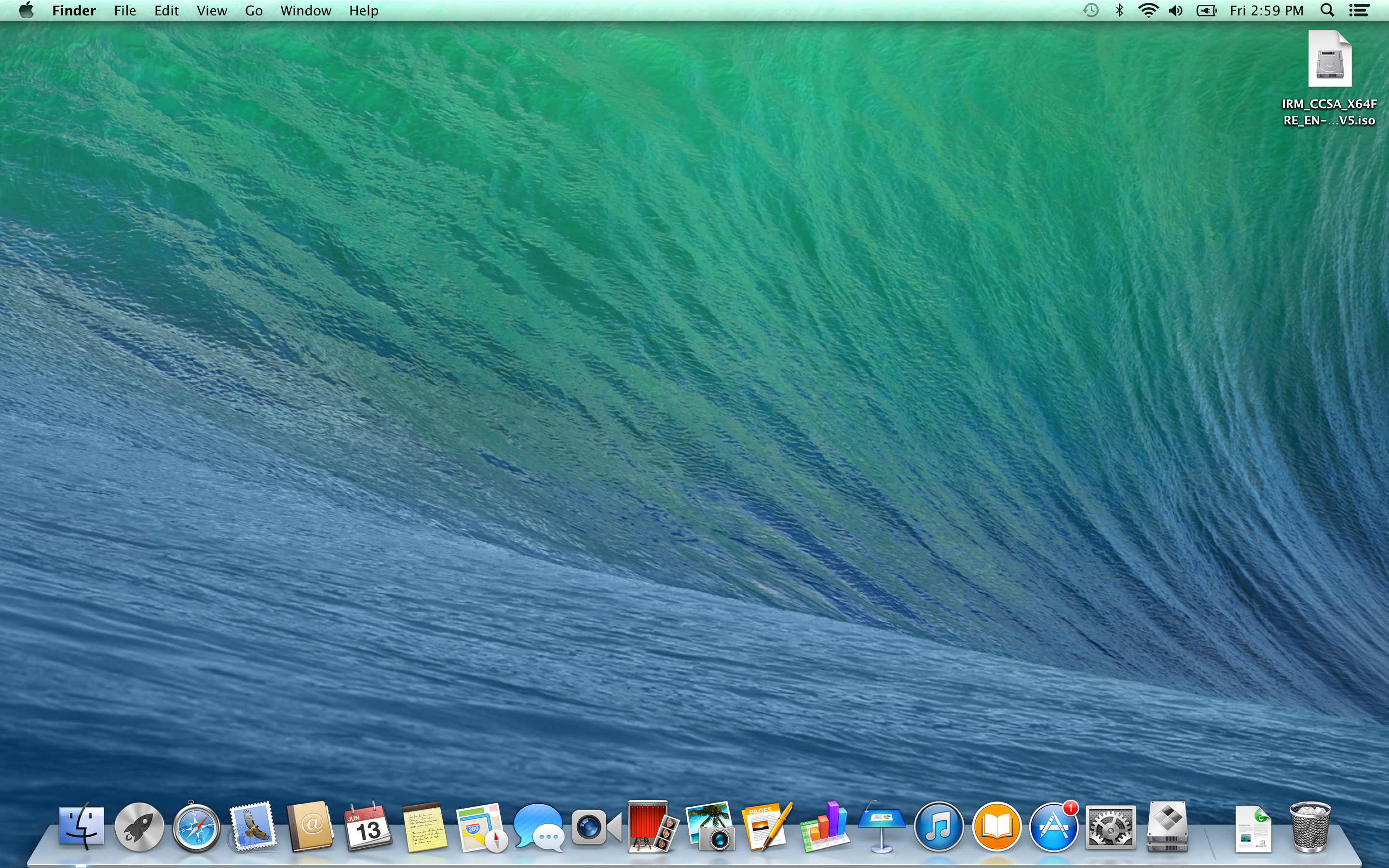 A screenshot of the Apple MacBook Pro with Retina Display's desktop.