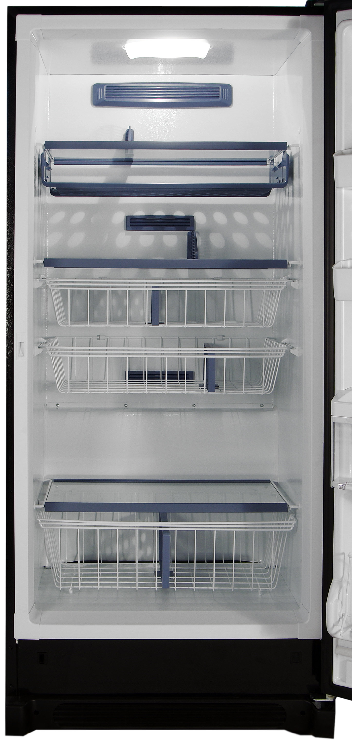 Pizza racks, sliding drawers, glass shelves: it's all found in the Kenmore Elite 28093 freezer.