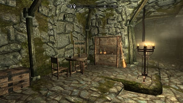 Skyrim looks rich and detailed on the GX70.