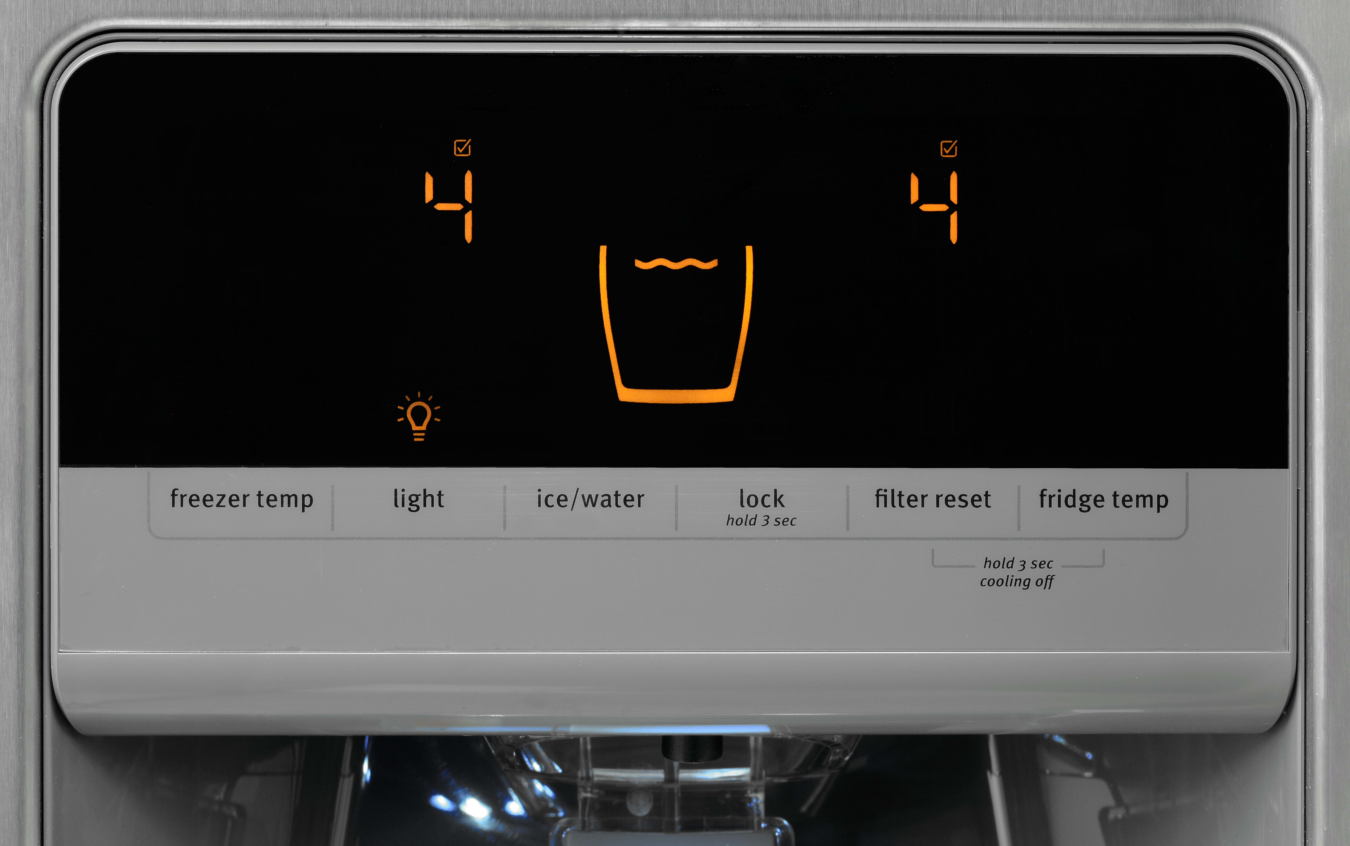 The Maytag MSF21D4MDM's controls certainly look sleek, but are less precise than we'd like.