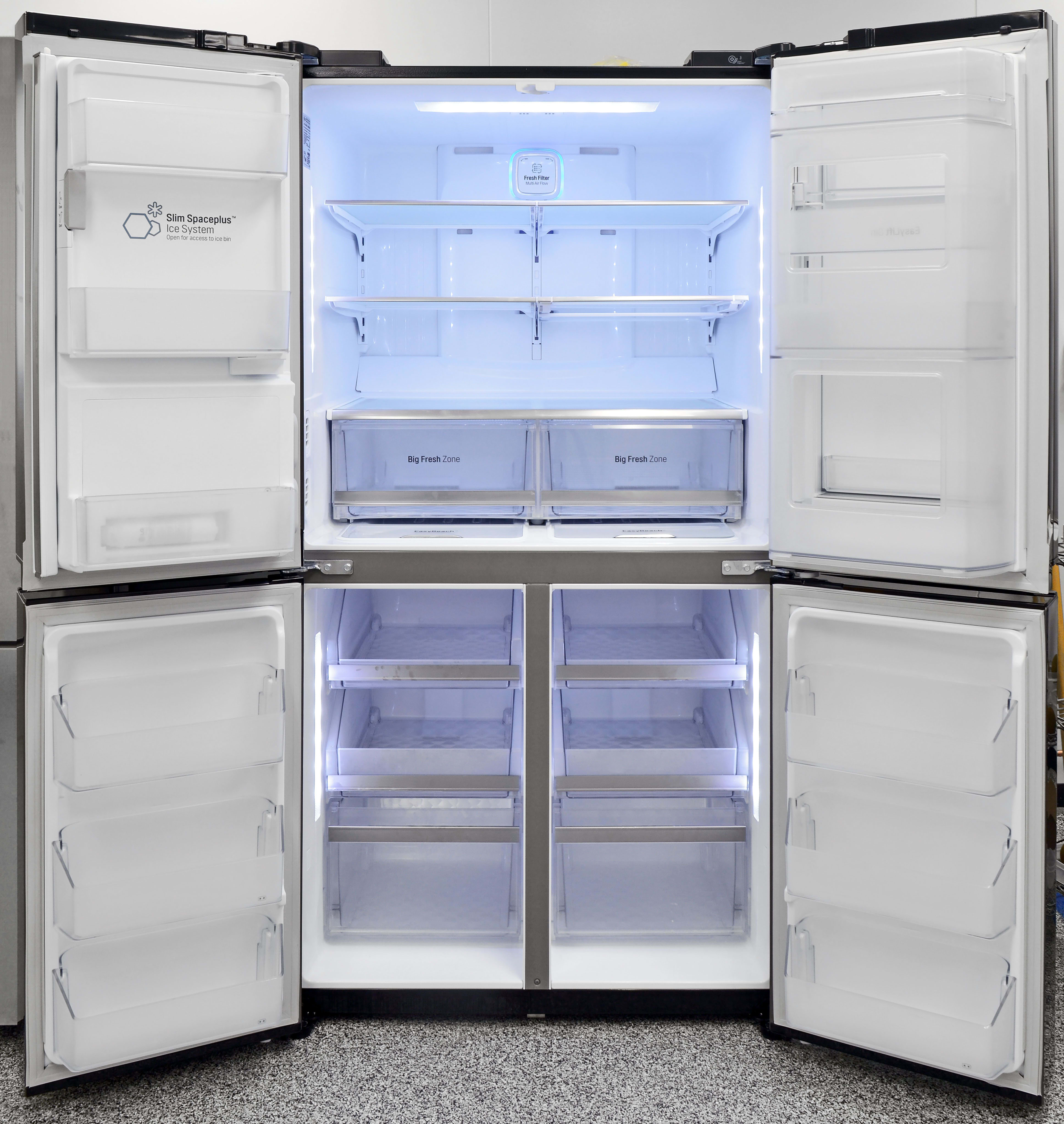 The LG LPXS30866D is a massive four-door fridge that's a sight to behold.
