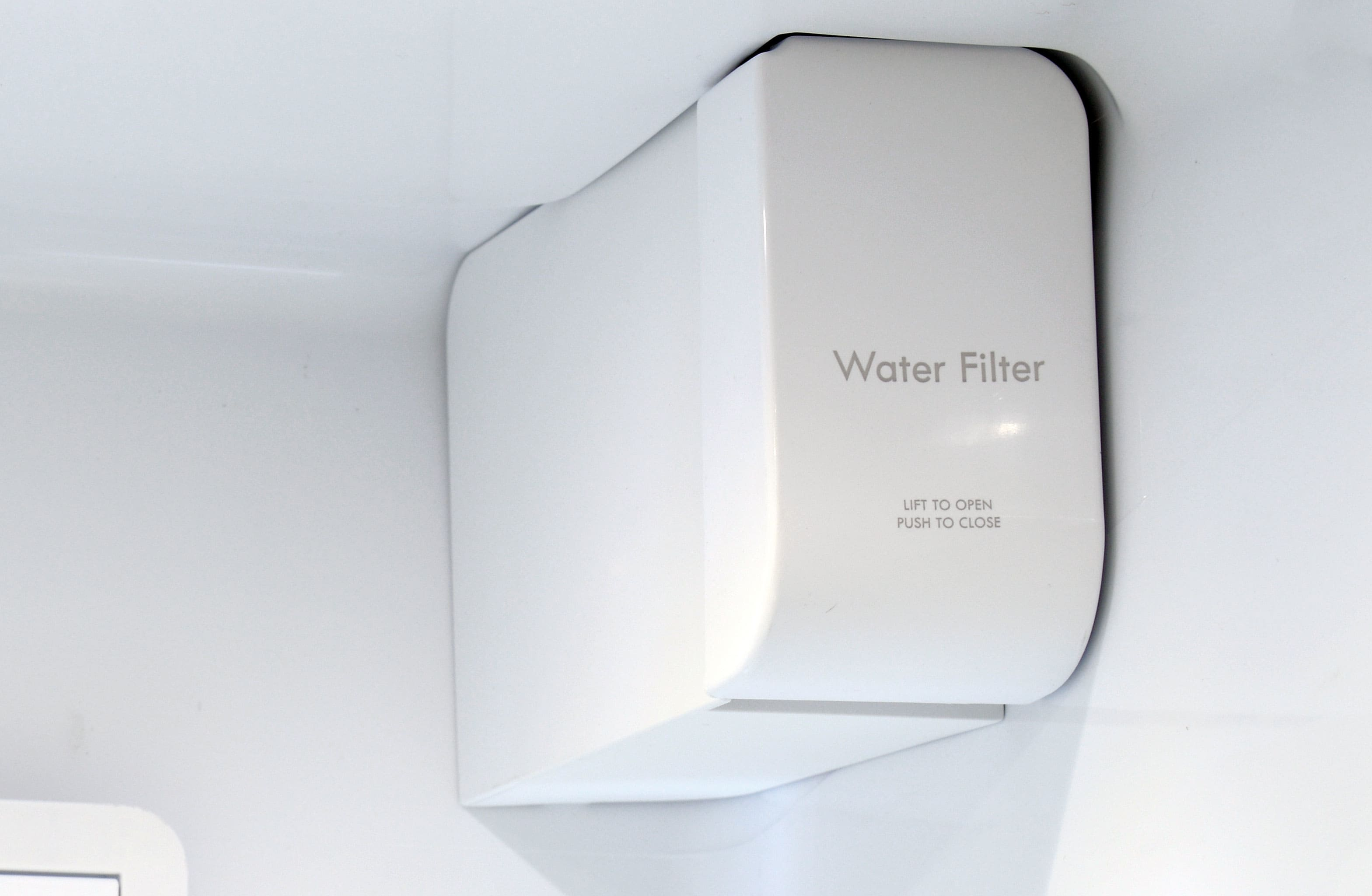 The Kenmore Elite 51773's water filter is unobtrusive and fairly easy to change.