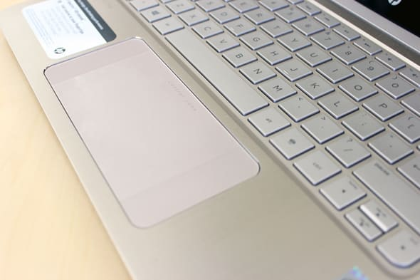 The Spectre 13 features a gigantic touchpad that's comfortable to use.