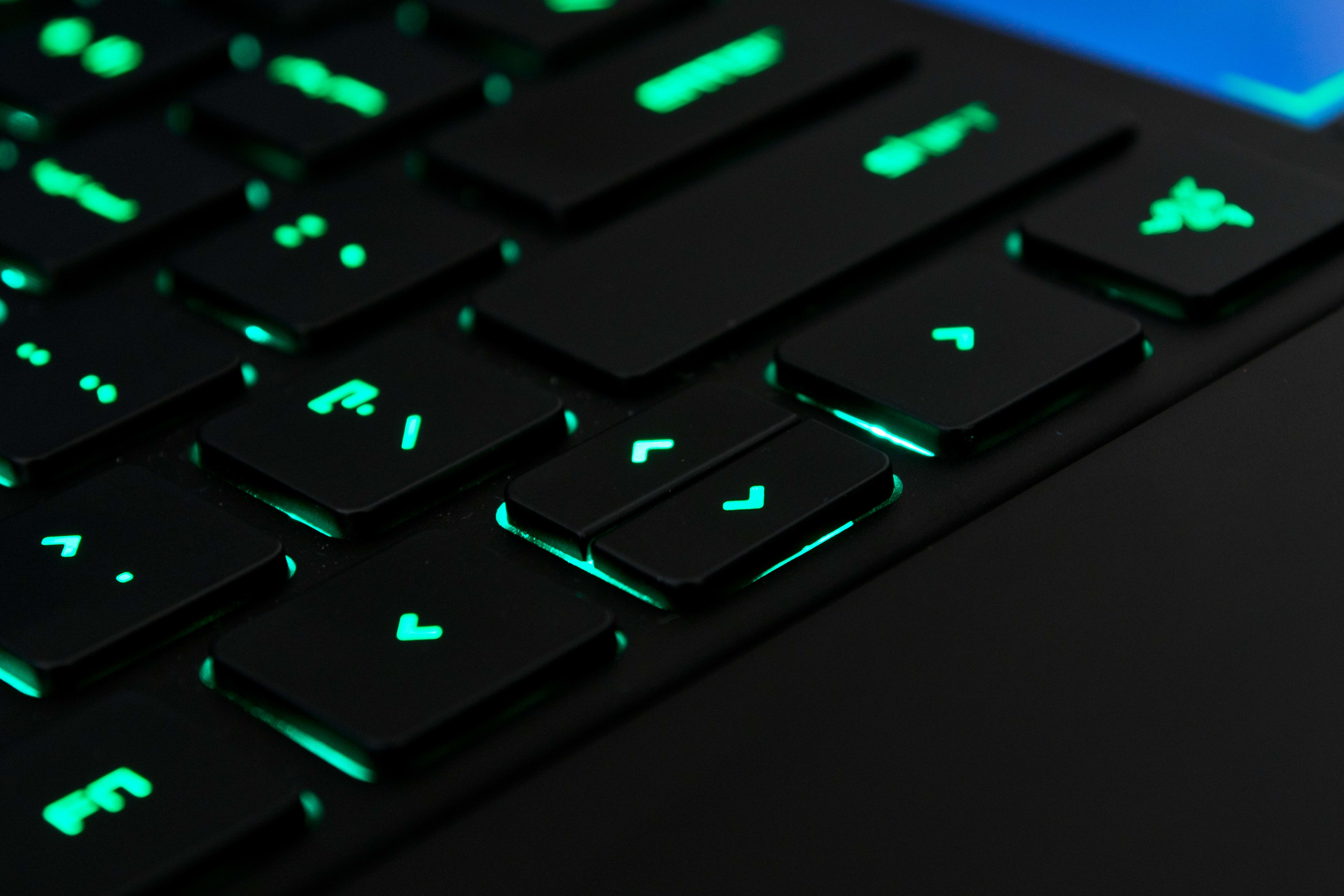 A photo of the Razer Blade Pro's arrow keys.