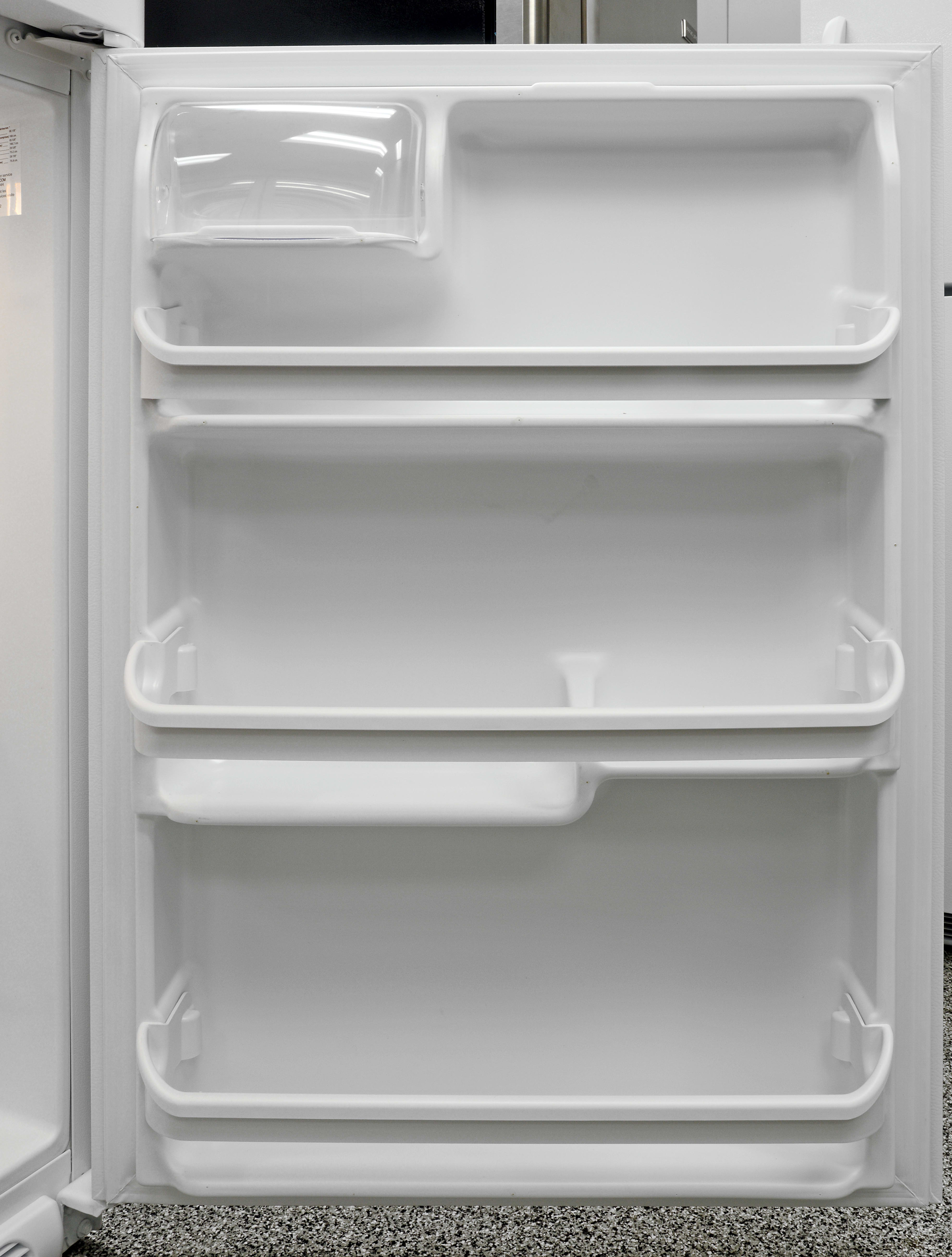 You can't move any of the Frigidaire FFTR1814QW's door shelves, but at least they offer storage options in varying heights.