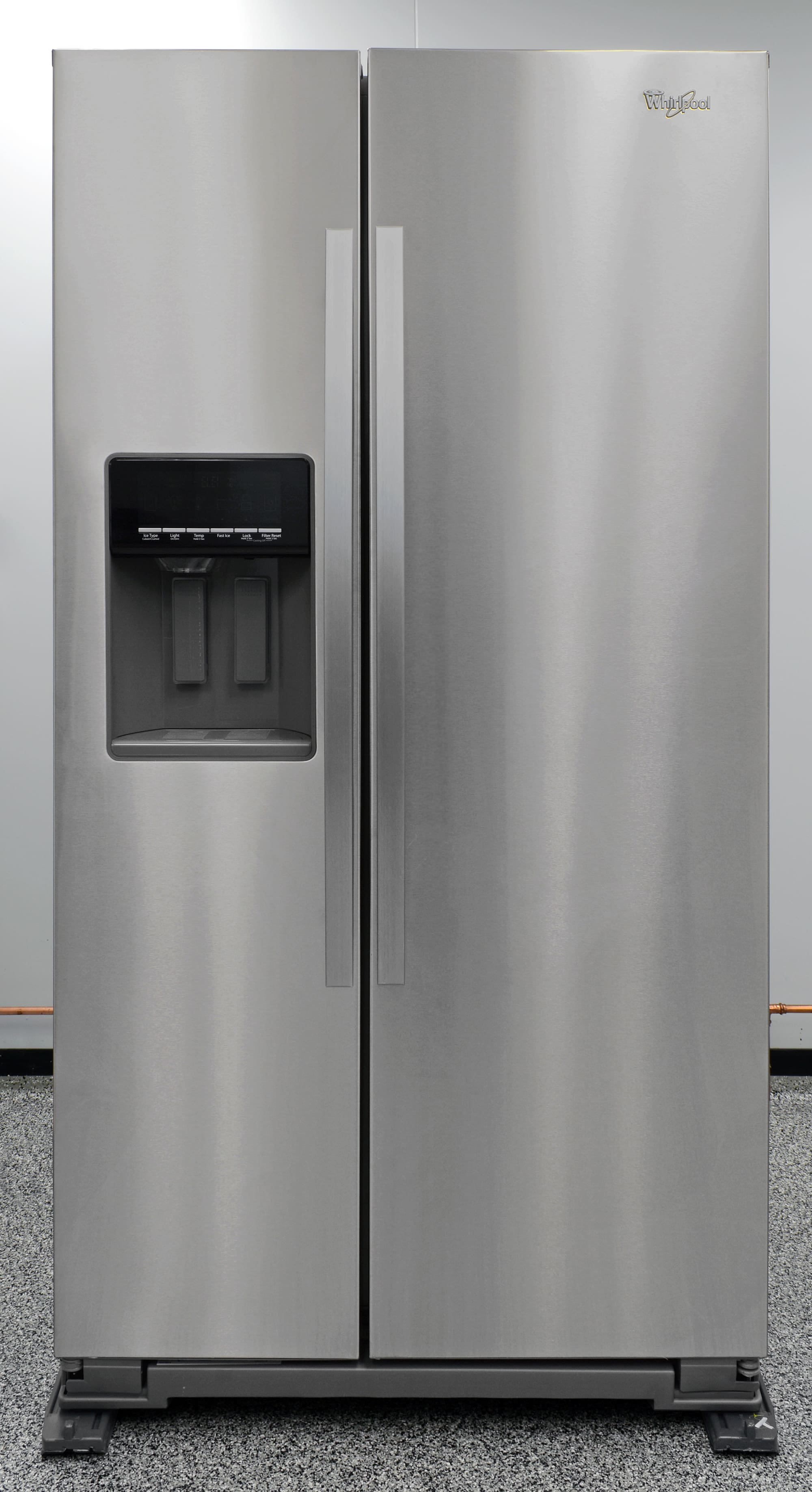 The Whirlpool WRS571CIDM side-by-side looks stylish enough, but lacks substance.