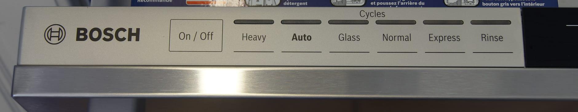 Bosch SHX7PT55UC left control panel