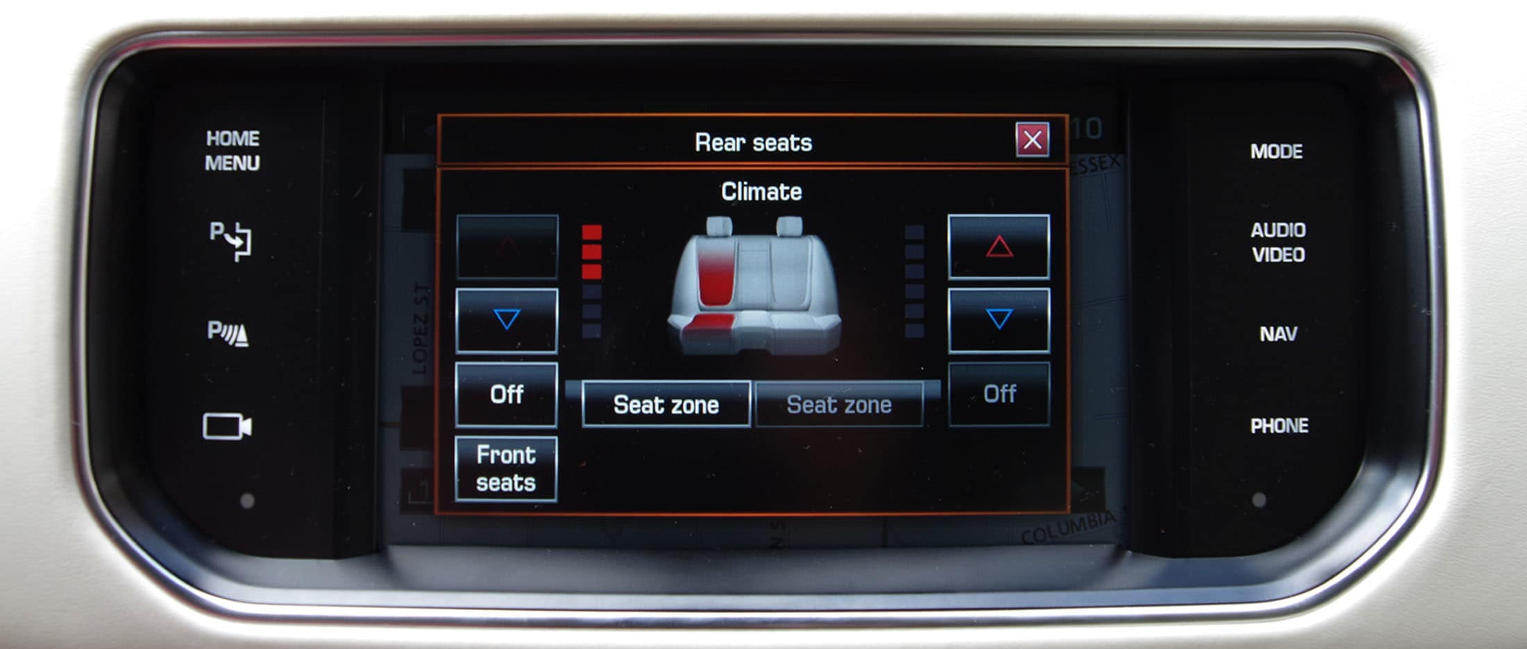 You can get heated and cooled rear seats, or you can upgrade to massaging seats in the back.