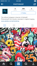 Adobe's @photoshop Instagram account