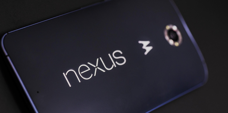 A photo of the Google Nexus 6's logo.