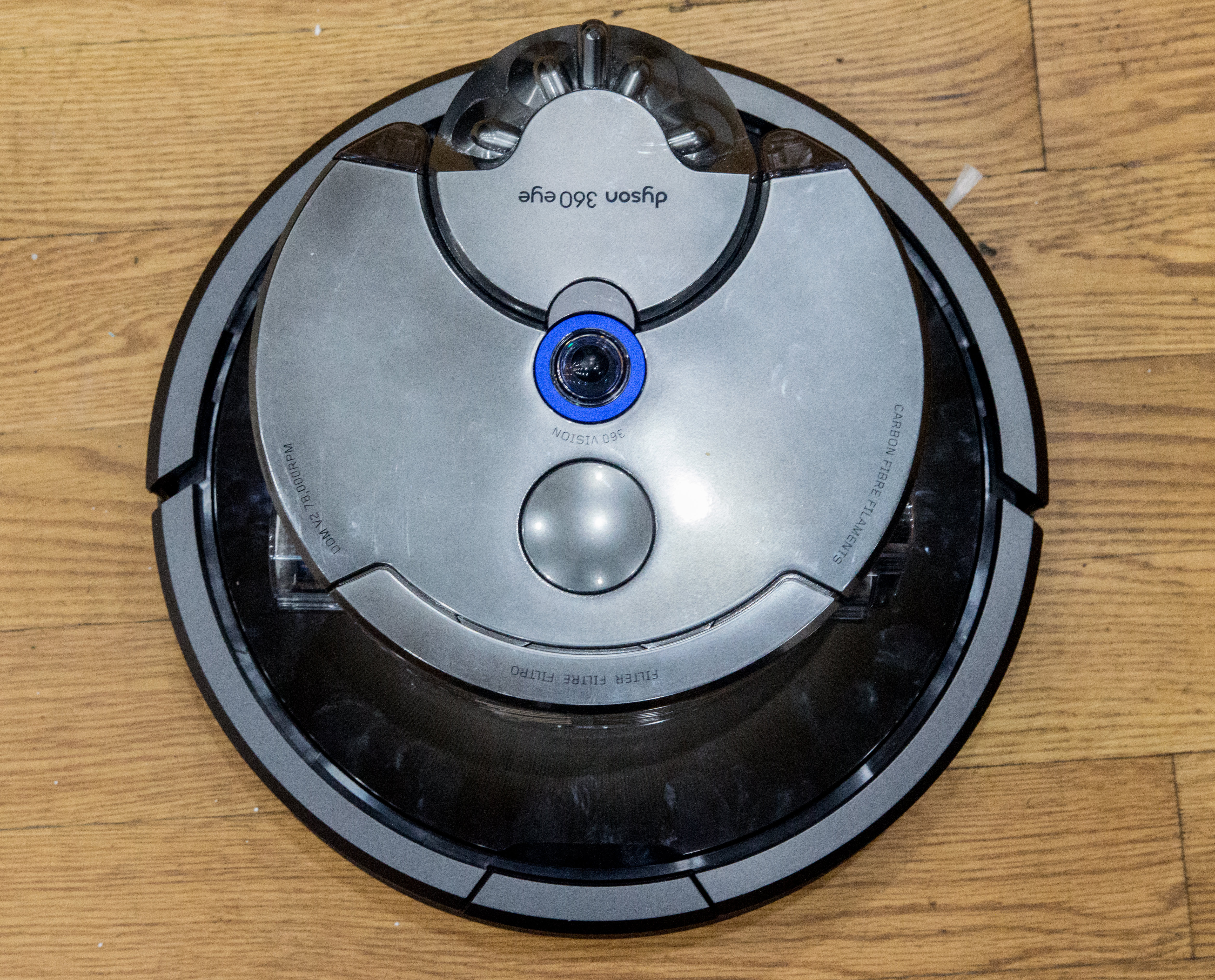 The 360 Eye is has a smaller footprint, but is taller than most robot vacuums.