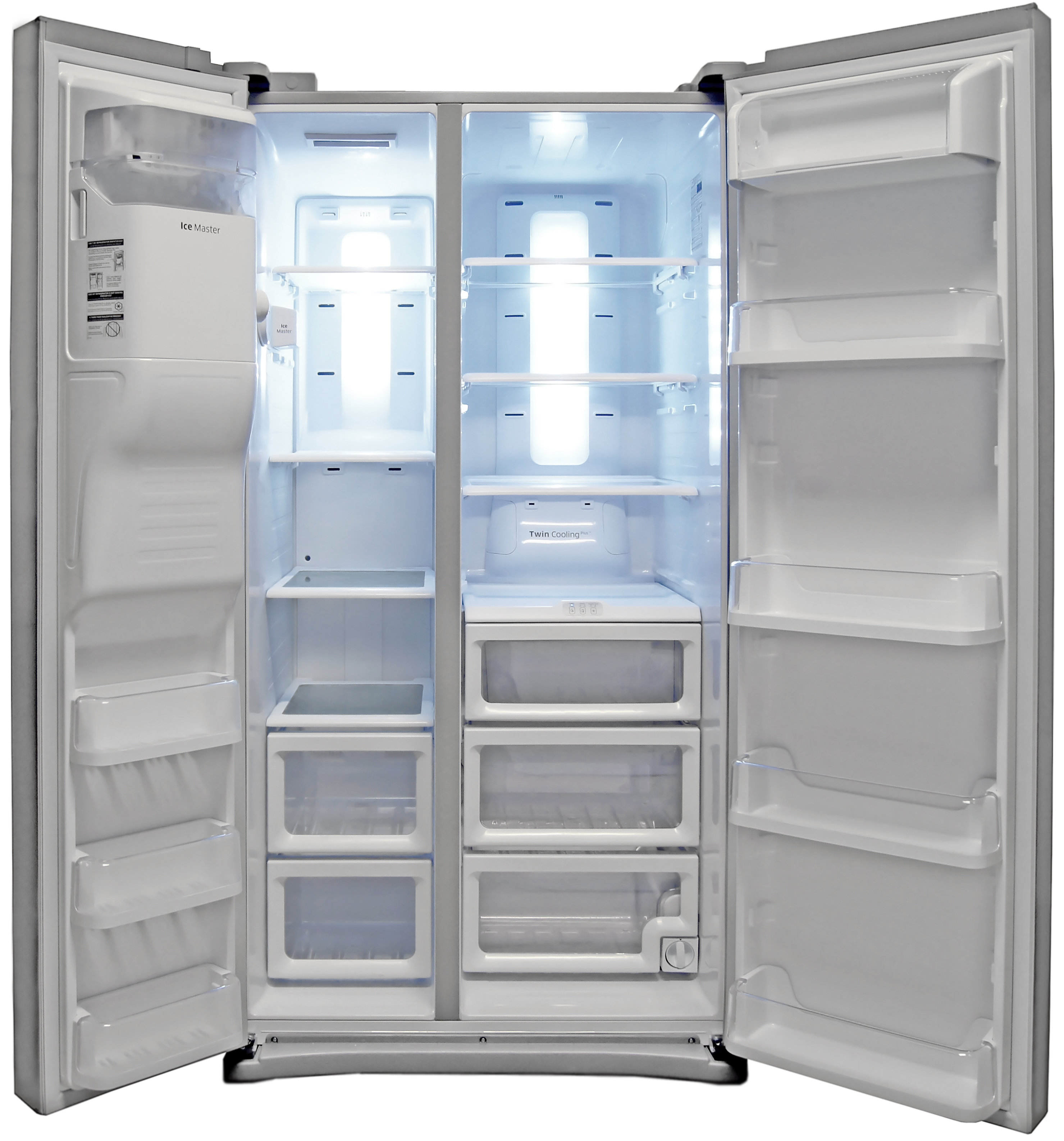 Both of the Samsung RS25H5121's compartments are exceptionally spacious.