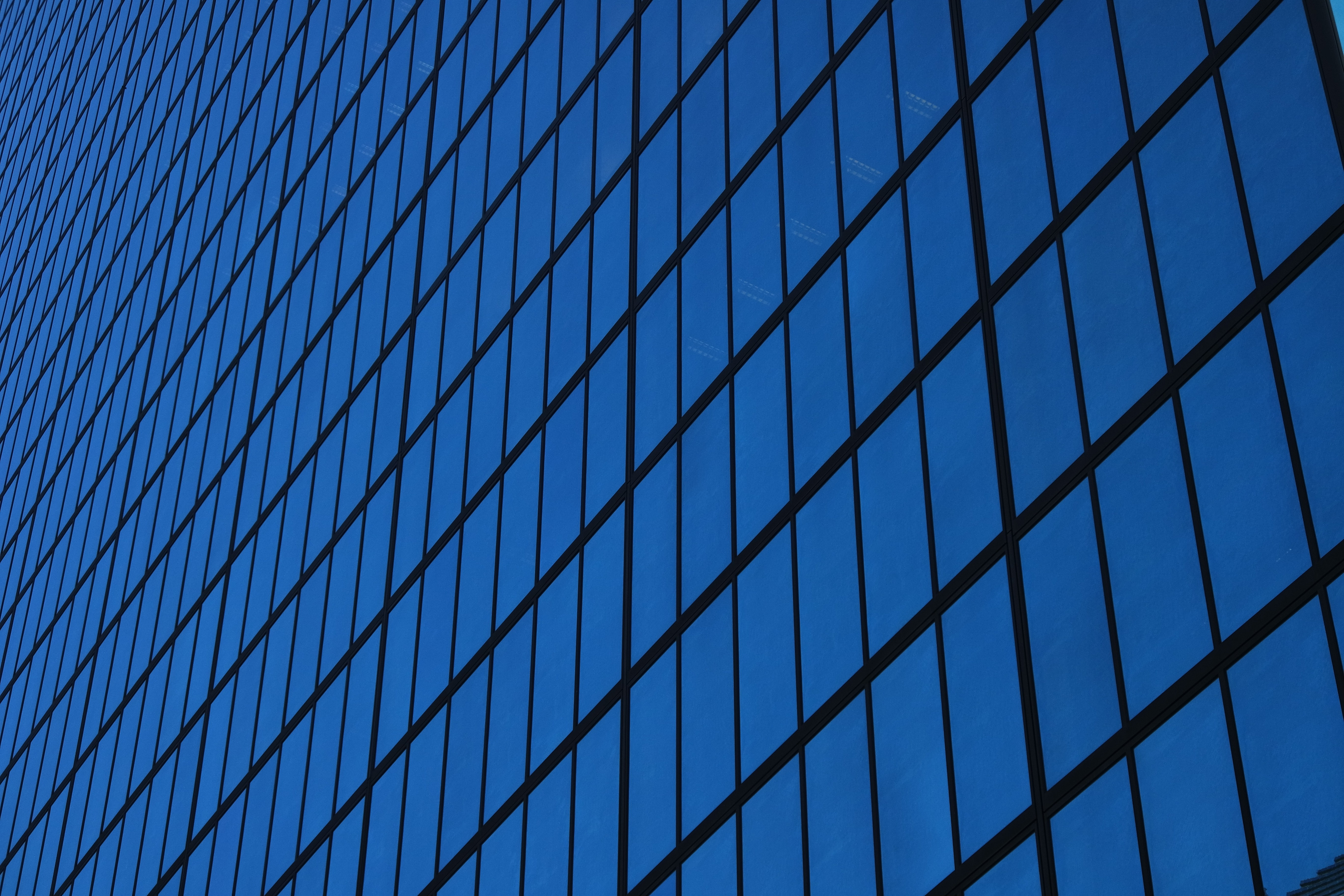 A sample photo of a building's windows shot by the Samsung NX3000.