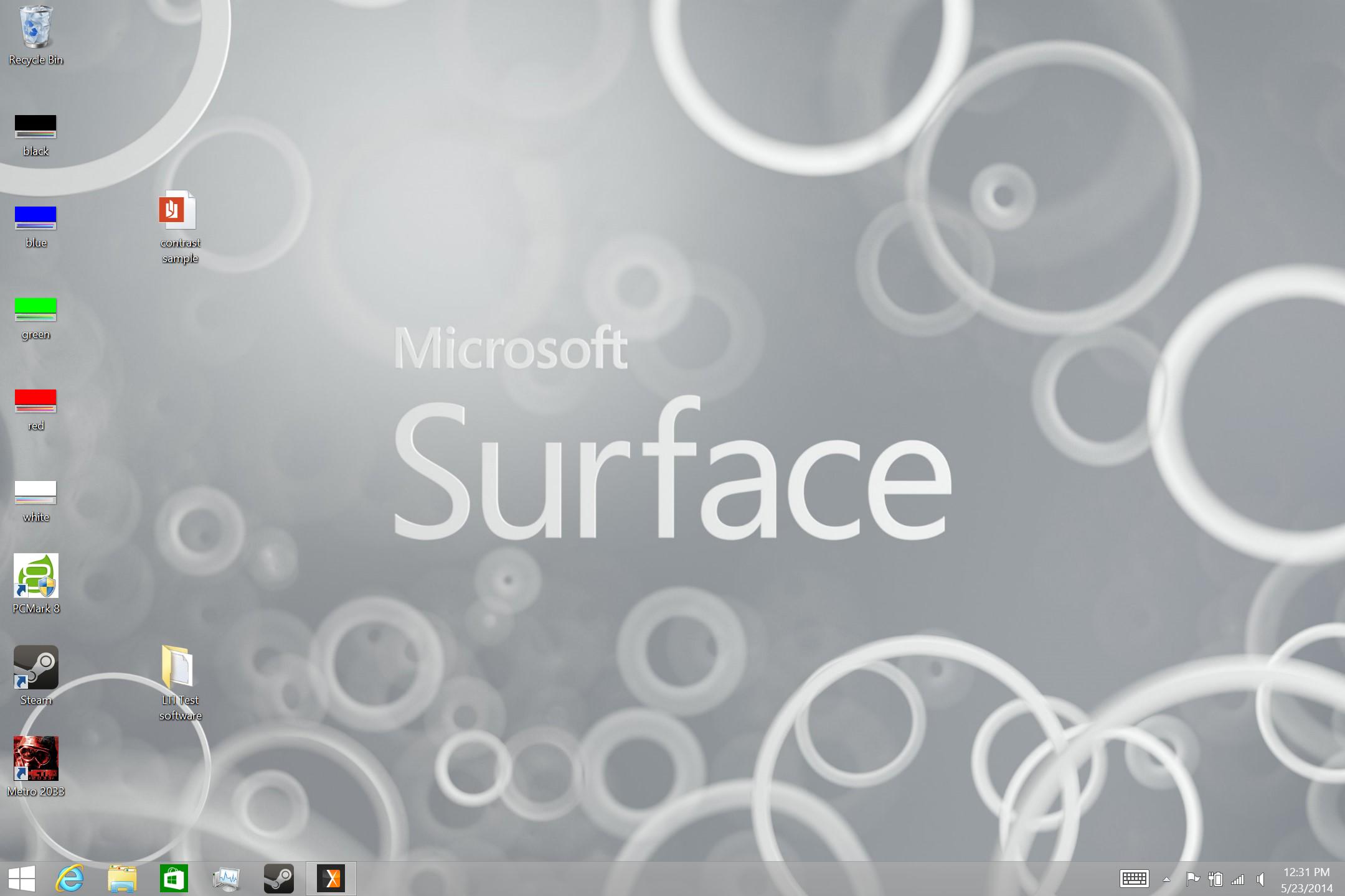 A screenshot of the Microsoft Surface 3's legacy desktop.