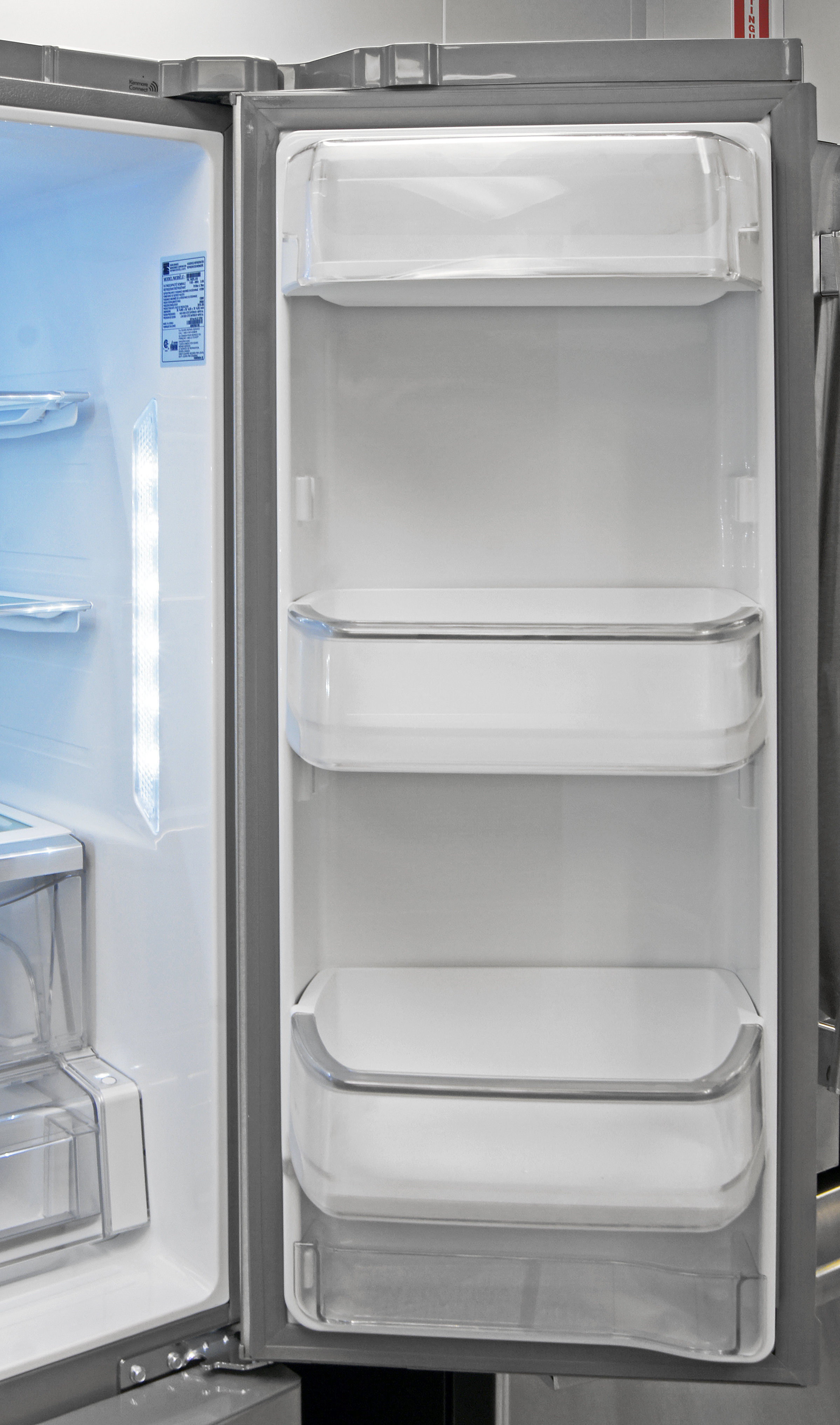 The Kenmore Elite 74025's right door offers adjustable gallon-sized storage.