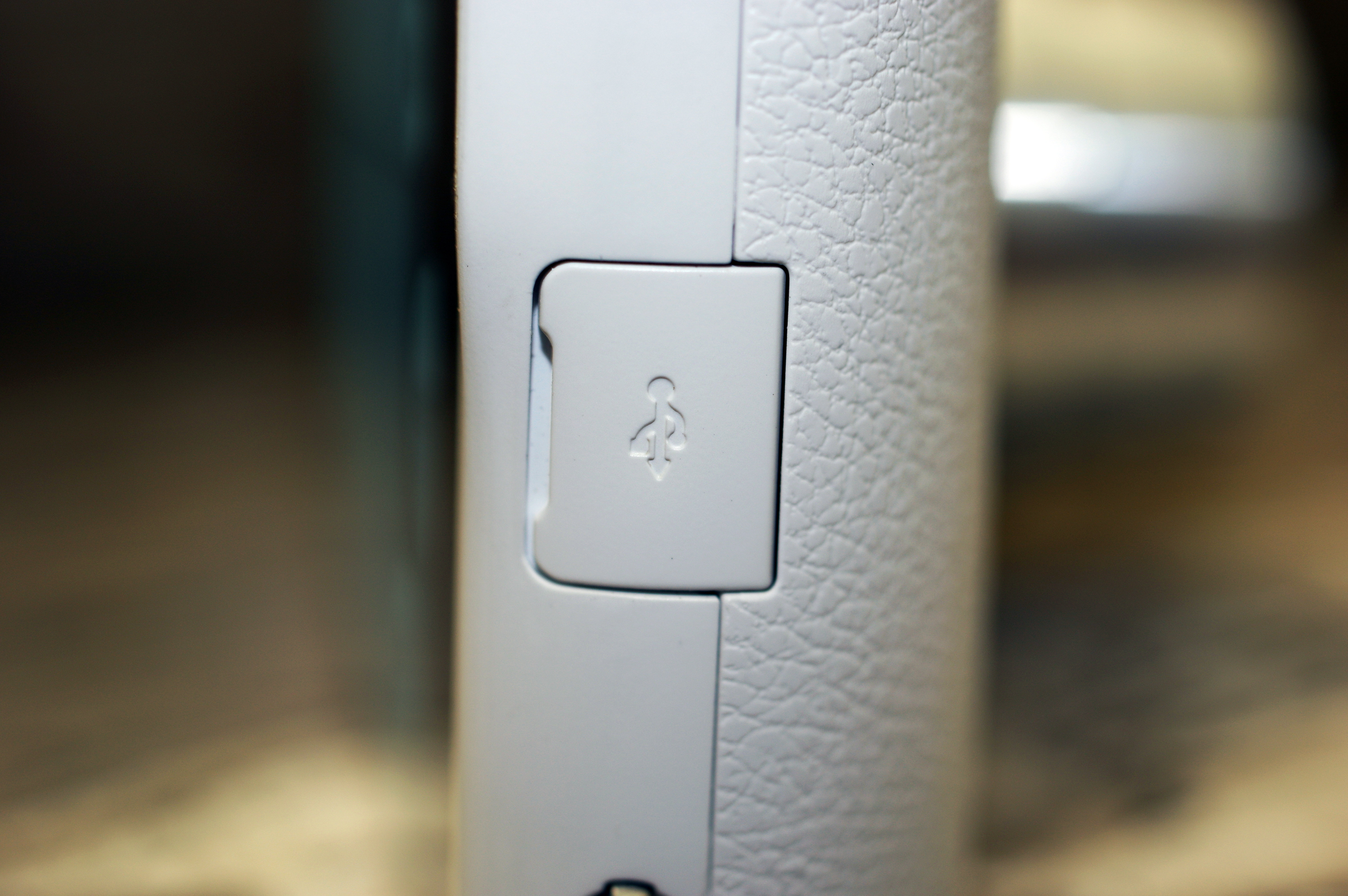 There is a micro-USB port for charging and various adaptors.