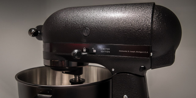 ... KitchenAidu0027s Glossy Black Mixer, Is Blacked Out Here. Credit: ...