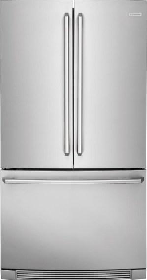refrigerator no dispenser. credit: electrolux refrigerator no dispenser