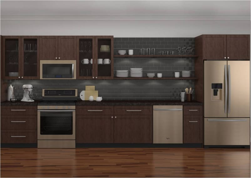 Design Whirlpool up with whirlpool s sunset bronze finish reviewed com