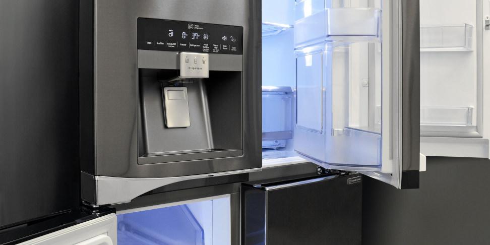 Lg Kitchen Appliances Reviews #20: LG LPXS30866D Black Stainless Diamond Collection Refrigerator Review - Reviewed.com Refrigerators