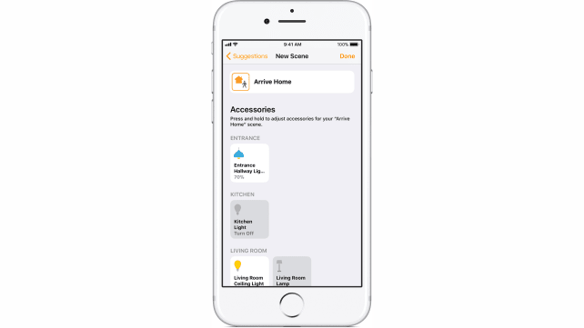 HomeKit Scenes in the iOS 11 Home app