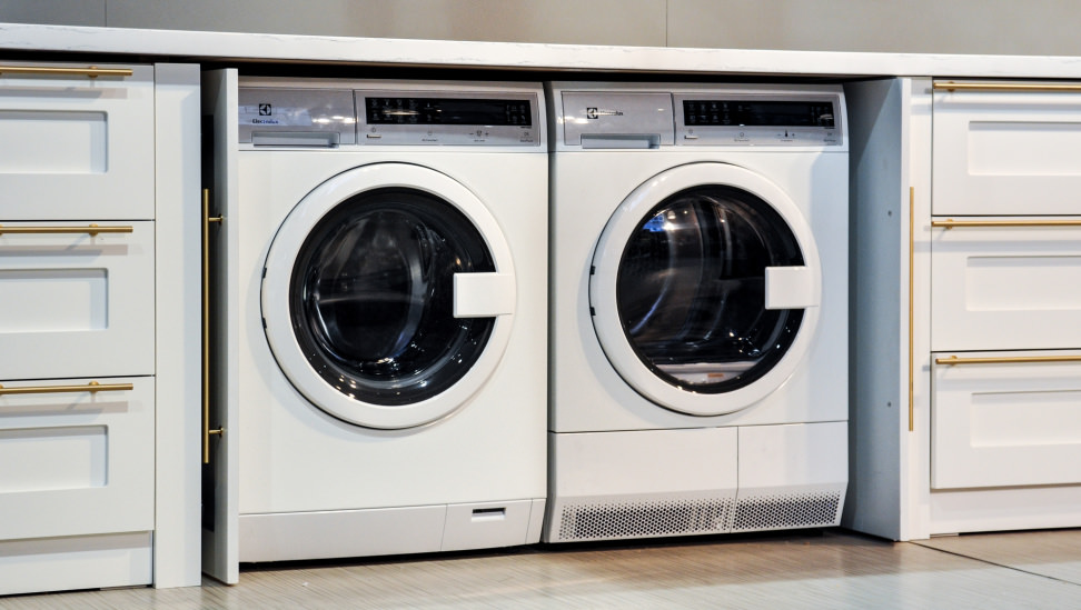 Electrolux compact washer and ventless dryer first for Under cabinet washer and dryer