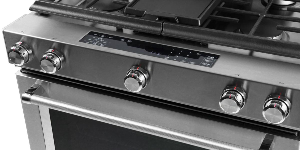 Superb KitchenAid KSDB900ESS Dual Fuel Slide In Range Review   Reviewed.com Ovens
