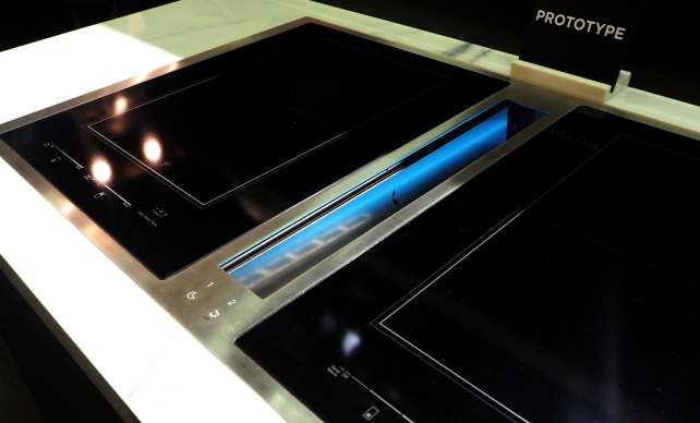 jennair induction cooktop with downdraft ventilation prototype