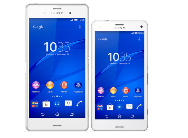 Sony Xperia Z3 and Xperia Z3 Compact