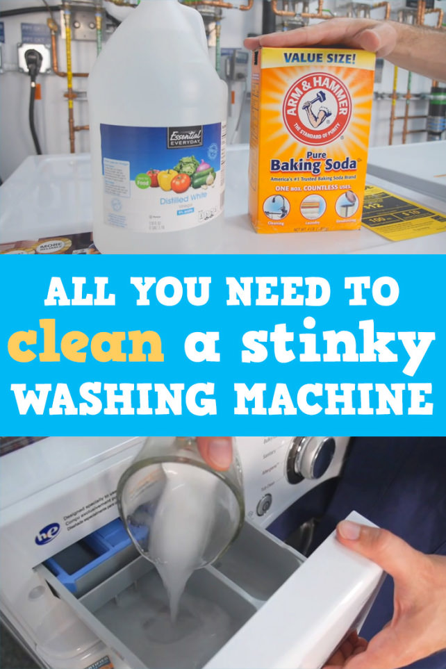 how to clean a washing machine that smells