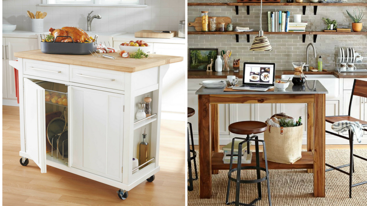 Portable Kitchen Counter : These portable islands work hard in your kitchen