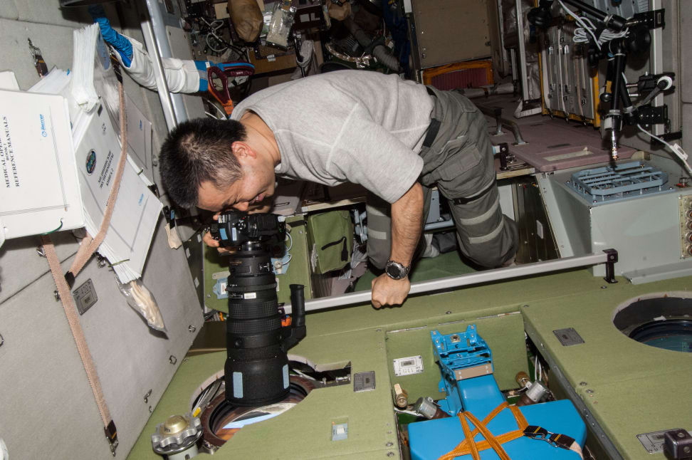 Astronaut Koichi Wakata Takes Photo Onboard ISS.jpg