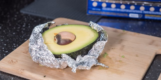 Avocado in foil