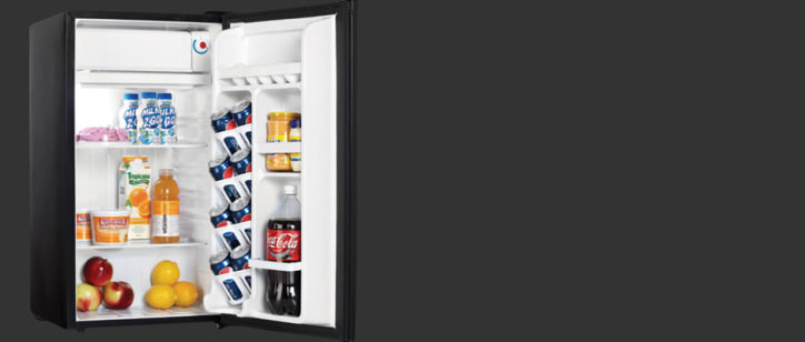 the danby dcr88bldd is a single door mini fridge that looks and feels sleeker than a really basic model - Danby Mini Fridge