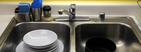 Dishes sink hero