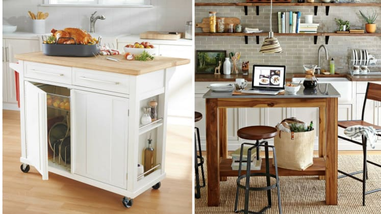 these 10 portable islands work hard in your kitchen
