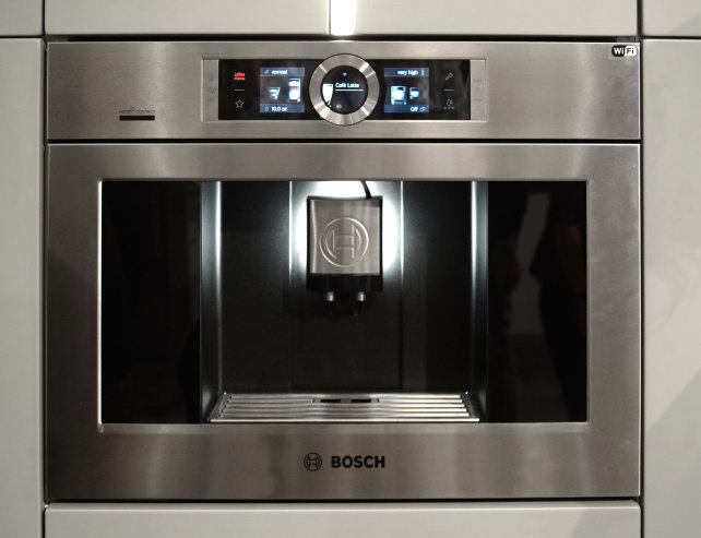 the bosch home connect smart coffee maker has playlists. Black Bedroom Furniture Sets. Home Design Ideas