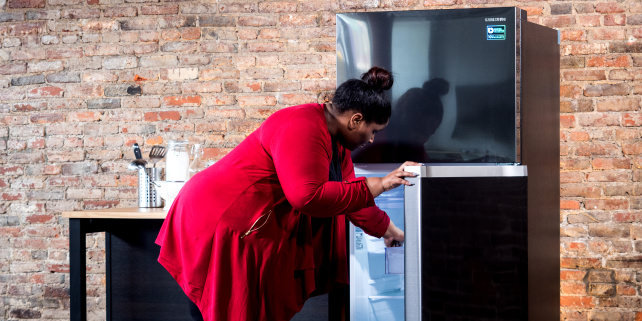 The Samsung RT18M6215/AA refrigerator