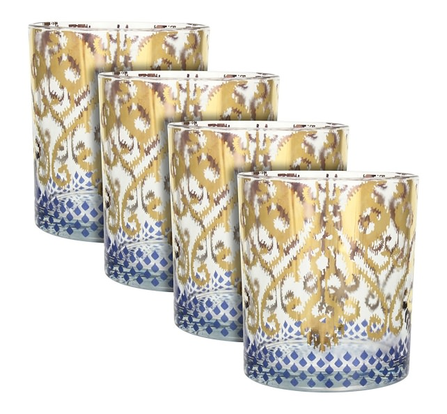 Patina Vie Golden Ikat barware