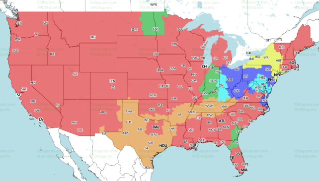 506sports.com's Week 17 NFL map