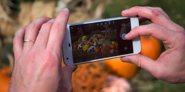 Google Pixel Camera In Use