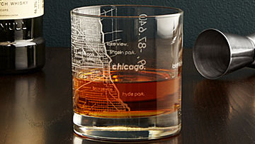 Etched City Map Glasses